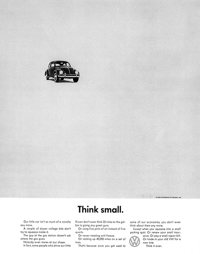 Think Small, 1959 by DDB