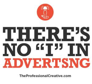 "There's no ""i"" in advertsng"