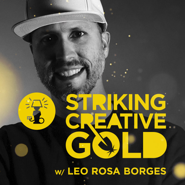 Striking Creative Gold Leo Rosa Borges